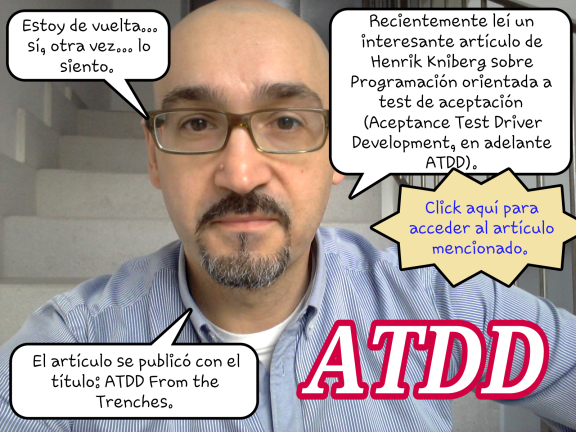 Modelo, método y gestión: Desarrollo Orientado a Test de Aceptación (ATDD) I
